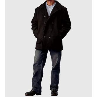 Männer Mantel ROTHCO - PEA COAT - BLACK - 7070