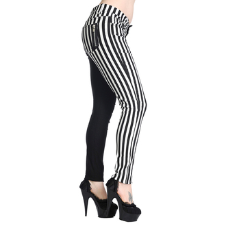 Hose BANNED - Striped Trousers - Half Black/Half White