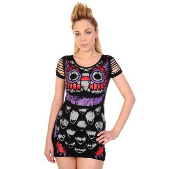 Damen Kleid  (Tunika) BANNED - Owl - Black, BANNED