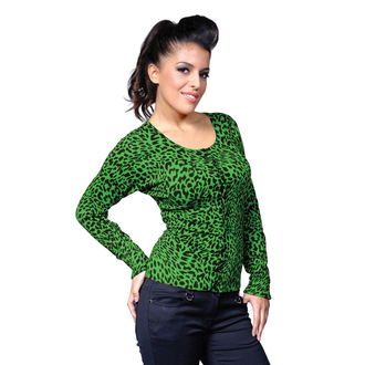 Damen Pulli  BANNED - Green Leopard