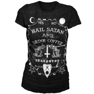Damen T-Shirt  BLACK CRAFT - Hail Satan & Drink Coffee - Black