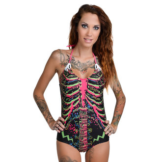 Damen Bikini Badeanzug TOO FAST - Electric Skeleton - Multi, TOO FAST