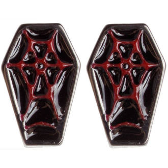 Ohrringeee/Ohrstecker SOURPUSS - Coffin - Black/Red, SOURPUSS