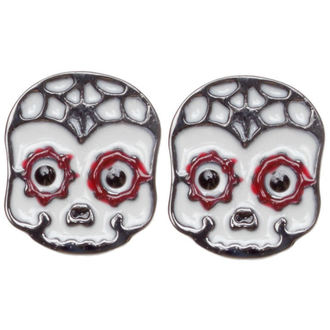 Ohrringeee/Ohrstecker SOURPUSS - Sugar Skull - Red, SOURPUSS