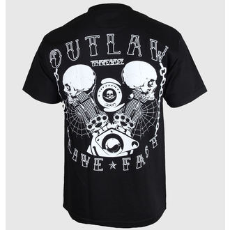 Herren T-Shirt Outlaw Threadz - Live Fast, OUTLAW THREADZ
