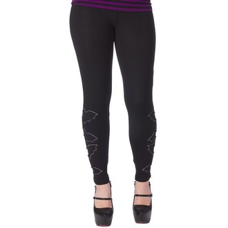 Damen Leggings  SOURPUSS - The Bats - Black, SOURPUSS