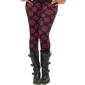 Damen Leggings  SOURPUSS - Omni Roses - Black, SOURPUSS