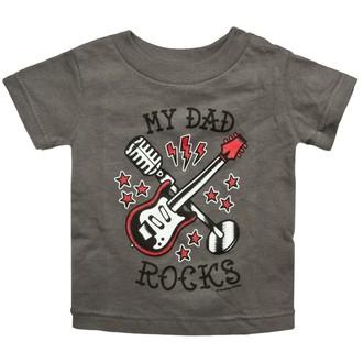 Kinder T-Shirt SOURPUSS - My Dad Rocks - Charcoal, SOURPUSS