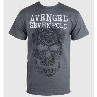 Herren T-Shirt Avenged Sevenfold - Skull - Grey - BRAVADO, BRAVADO, Avenged Sevenfold