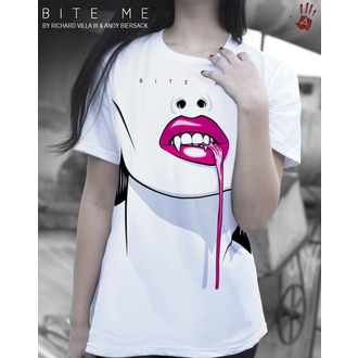 T-Shirt EXHIBIT A GALLERY - Bite Me - White