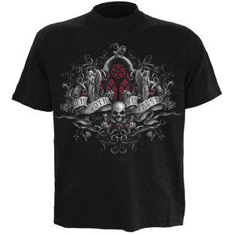 Herren T-Shirt SPIRAL - IN GOTH WE TRUST - BLK