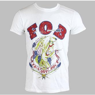 Herren T-Shirt   FALL OUT BOY - NATIVE WOLF - WEISS - LIVE NATION, LIVE NATION, Fall Out Boy