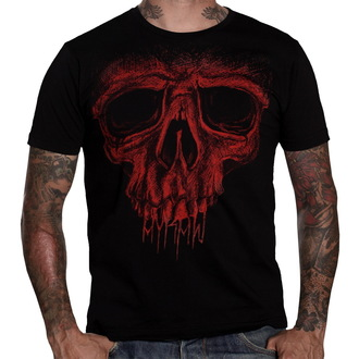 Herren T-Shirt   HYRAW - Red Skull - Black - HY002