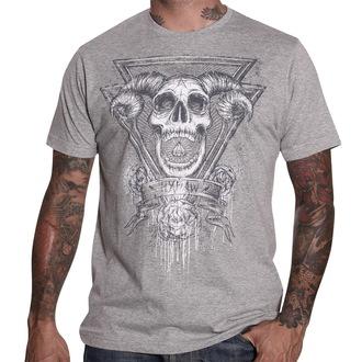 Herren T-ShirtHYRAW - Demon - Grey