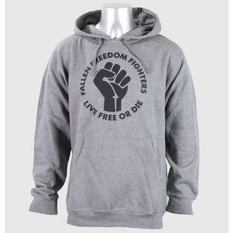 Herren Hoodie FALLEN - Freedom Fighter Heather- Grey/Black, FALLEN