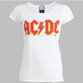 Damen T-Shirt  AC/DC - Logo - AMPLIFIED - White