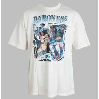 Herren T-Shirt Baroness - Blue Record  - Cream - RELAPSE, RELAPSE, Baroness