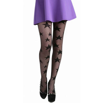 Strumpfhose PAMELA MANN - All Over Stars Sheer Tights - Black, PAMELA MANN
