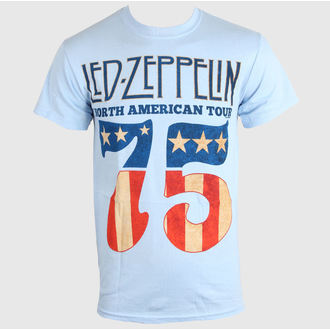 Herren T-Shirt LED ZEPPELIN - US 75 - SKY BLAU - LIVE NATION, LIVE NATION, Led Zeppelin
