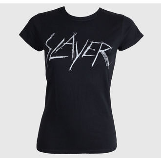 Damen T-Shirt Slayer - Scratchy Logo - ROCK OFF, ROCK OFF, Slayer