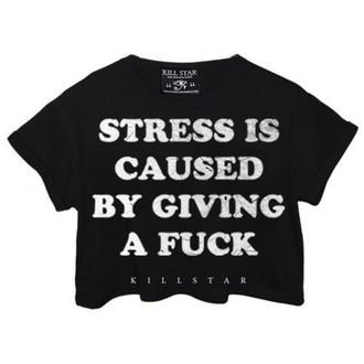 Damen T-Shirt  (Tunika) KILLSTAR - Stress - Black