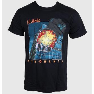 Herren T-Shirt DEF LEPPARD - Pyromania - BLACK - LIVE NATION - PE11766TSBP