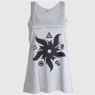 Damen Tank Top (Tunika) WITHIN TEMPTATION - FIRE STAR - GRAU, NNM, Within Temptation