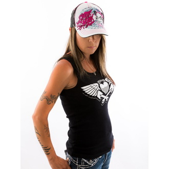 Damen Tank Top/Shirt  LETHAL THREAT - Piston Heart - Black, LETHAL THREAT