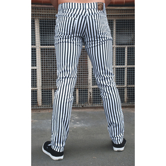 (unisex) Hose 3RDAND56th - Striped Skinny - BLK/WHT