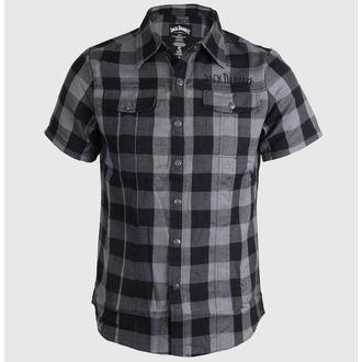 Herren Kurzarmhemd Jack Daniels - Checks - Black/Grey, JACK DANIELS