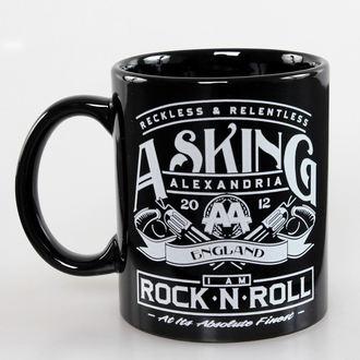 Keramiktasse Asking Alexandria - Rock N Roll - ROCK OFF, ROCK OFF, Asking Alexandria