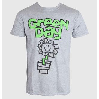 Herren T-Shirt Green Day - Flower Pot - Grey - ROCK OFF, ROCK OFF, Green Day