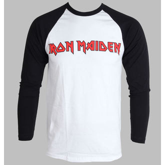 Herren Longsleeve Iron Maiden - Logo - ROCK OFF, ROCK OFF, Iron Maiden