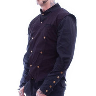 Herren Weste NECESSARY EVIL - Chronus Mens Steampunk - Black, NECESSARY EVIL
