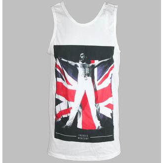 Herren Tank Top Freddie Mercury - Flag - White - BRAVADO, BRAVADO, Queen