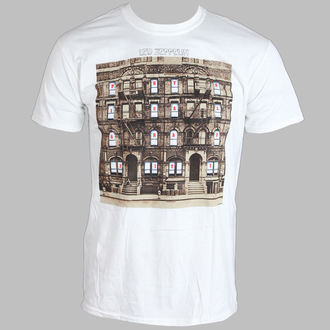 Herren T-Shirt   Led Zeppelin - Psychical Graffiti - White - LIVE NATION, LIVE NATION, Led Zeppelin