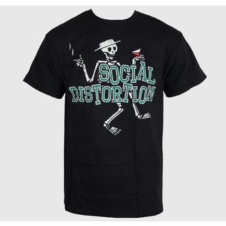 Herren T-Shirt   Social Distortion - Letterman Skully - BRAVADO, BRAVADO, Social Distortion