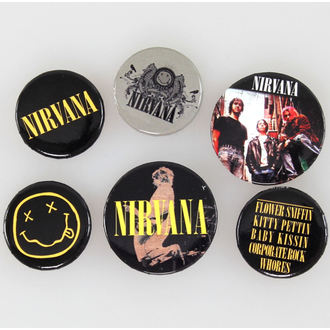 Buttons Nirvana - Smiley - GB Posters, GB posters, Nirvana