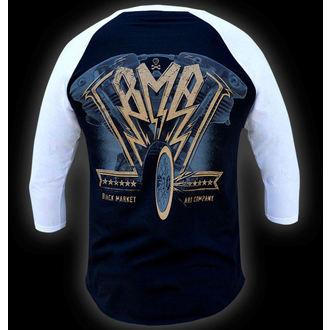 Herren 3/4-Arm Shirt  BLACK MARKET - Ian McNiel - American Iron Baseball, BLACK MARKET