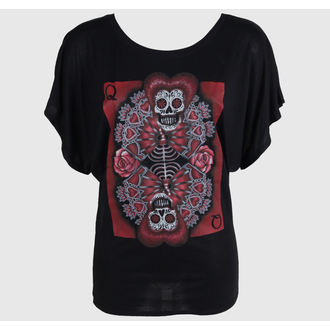 Damen T-Shirt  BLACK MARKET - Gabe Londis - Queen Of Hearts, BLACK MARKET