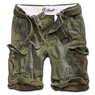 Herren Shorts  Brandit - Shell Valley Heavy Vintage - Oliv, BRANDIT