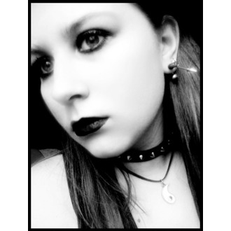 Halskette Ziernieten KEGEL  1, BLACK & METAL