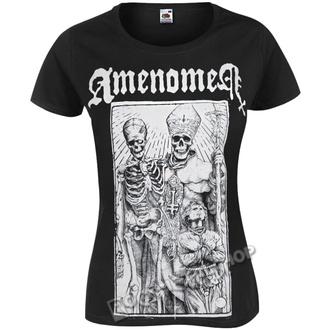Damen T-Shirt Hardcore - POPE AND DEATH - AMENOMEN, AMENOMEN