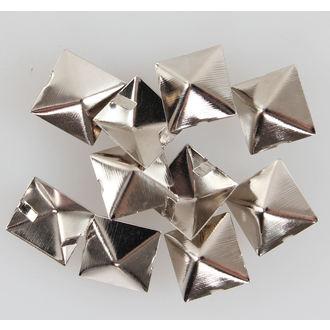 Metalll Nieten Pyramiden - 10 Stk., BLACK & METAL