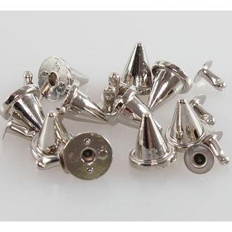 Metalll Ziernieten SPITZE SPIKES  - 10 Stk., BLACK & METAL