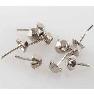 Metalll Ziernieten KEGEL - 10 Stk., BLACK & METAL