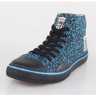 Herren Schuhe VISION - Canvas HI - Blue/Black Stipple, VISION
