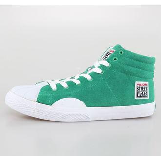 Herren Schuhe VISION - Suede HI - Pepper grün/weiß, VISION