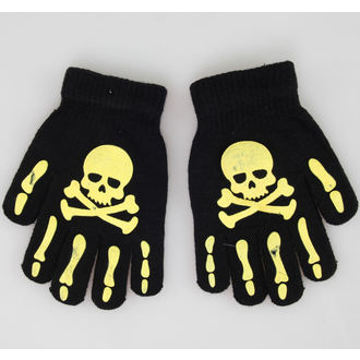 Handschuhe Skull - Black/Yellow