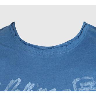 Herren T-Shirt   AMPLIFIED - Rolling Stones - UK Tongue - Blue, AMPLIFIED, Rolling Stones